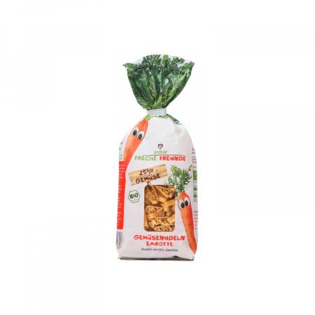 Paste pentru copii din grau dur cu morcovi BIO 300g