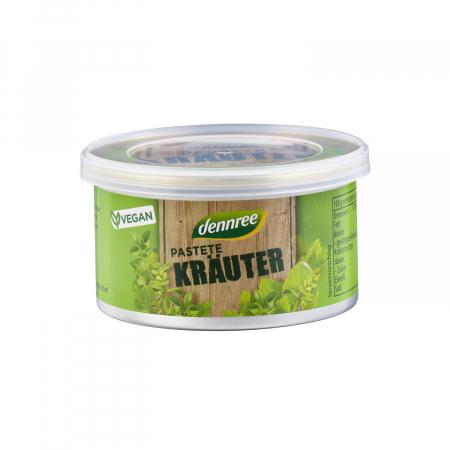 Pateu vegetal BIO cu ieburi aromatice Dennree 125g [0]
