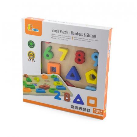 Puzzle 3D Numere si forme [1]