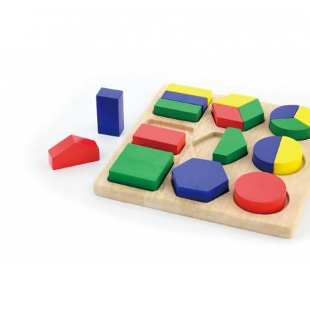 Puzzle sortator cu forme geometrice si fractii [1]