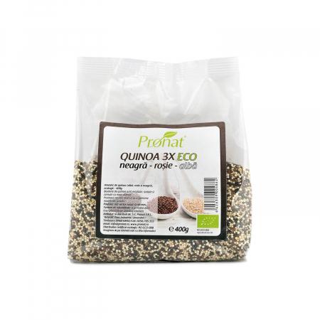 Quinoa 3x - amestec BIO de quinoa (neagra, rosie si alba), 400g [1]