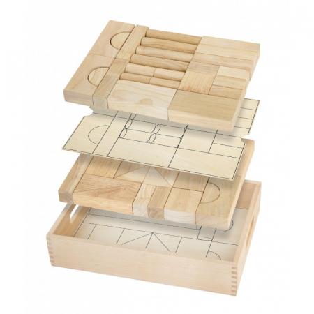 Set blocuri arhitecturalede construit, natur - 46 buc [0]
