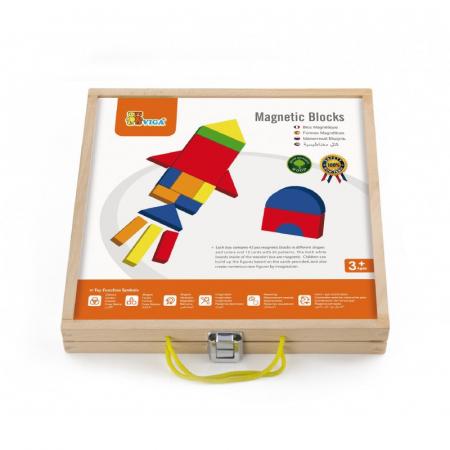 Set magnetic - forme geometrice din lemn cu cutie [5]