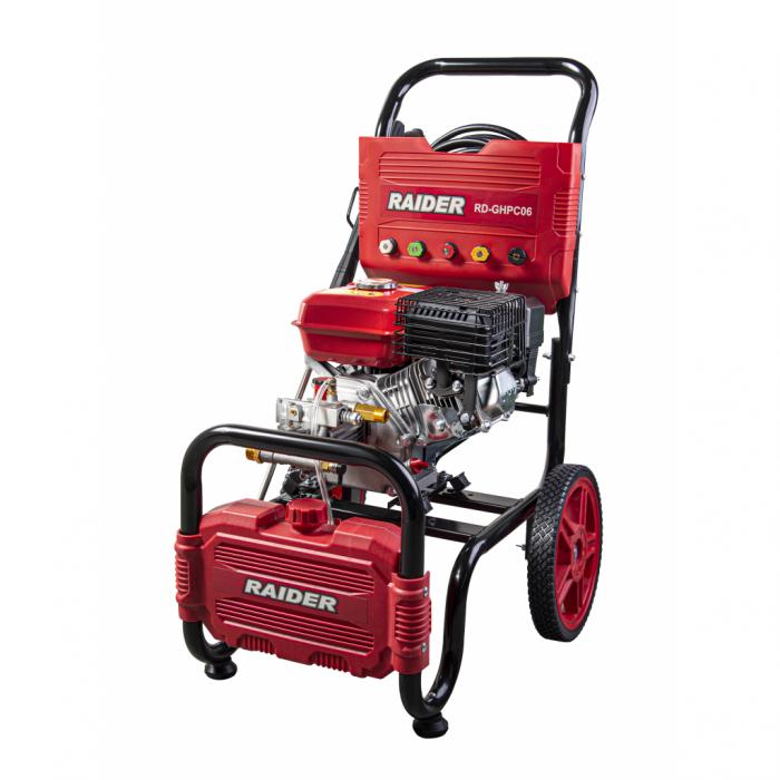 Aparat de spalat cu presiune pe benzina 6.5 CP, 4800W, 20MPa, 10L/min, RD-GHPC06 RAIDER 0