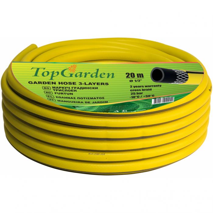 """Furtun de gradina 3 straturi 1/2"""" 30m Top Garden 0"""