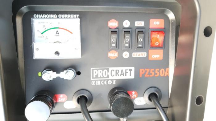 Robot incarcare auto, redresor baterie auto 12V-24V, 20-550Ah PZ550A ProCraft 4
