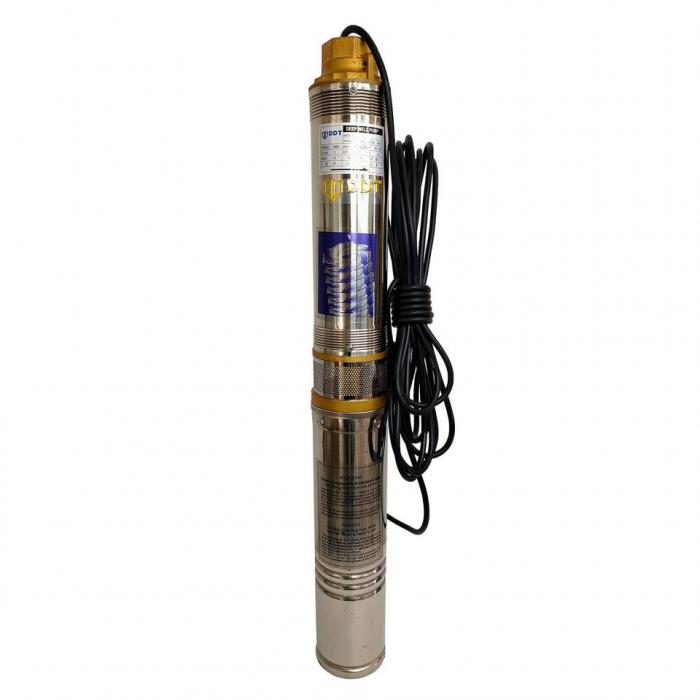 Pompa submersibila de mare adancime, DDT, 4QJD2-8, 1100 W, 8 turbine, 100 mm, Inox 0