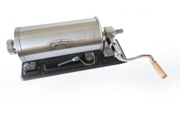 Masina de umplut carnati ( CARNATAR ) 3 kg ORIZONTAL Inox + 4 palnii MICUL FERMIER [2]