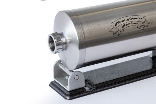 Masina de umplut carnati ( CARNATAR ) 3 kg ORIZONTAL Inox + 4 palnii MICUL FERMIER [6]