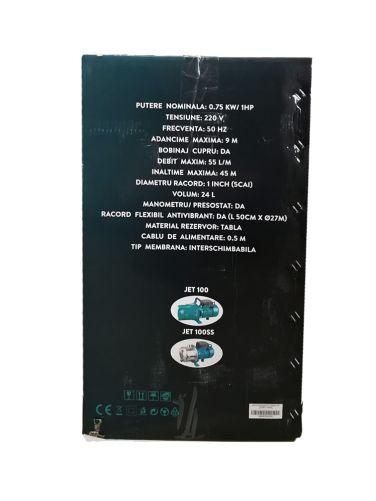 Hidrofor 0,75kW AUJET 100SS Detoolz, Debit 55, Volum 24l, Inaltime maxima 45m 1