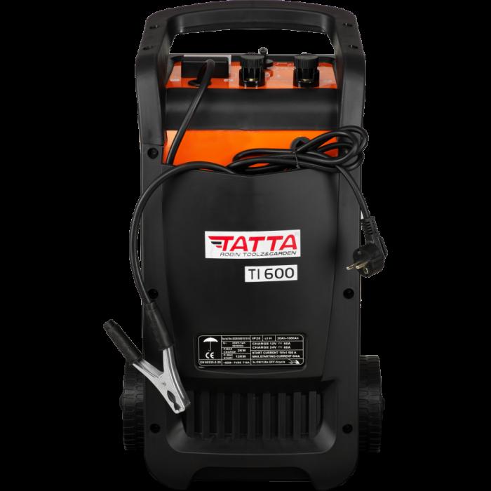Robot de pornire auto Tatta TI600 Profesional, curent de incarcare max 50A, curent pornire 540A, putere 2.0 KW 0