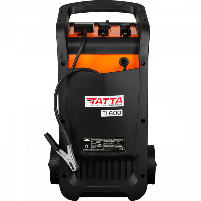 Robot de pornire auto Tatta TI600 Profesional, curent de incarcare max 50A, curent pornire 540A, putere 2.0 KW 1