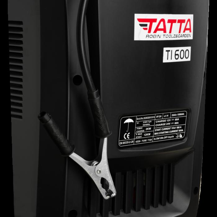 Robot de pornire auto Tatta TI600 Profesional, curent de incarcare max 50A, curent pornire 540A, putere 2.0 KW 4