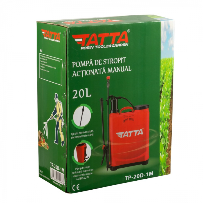 Pompa de stropit actionata manual Tatta TP-20D-1M, 20L, 2.4 bari 4