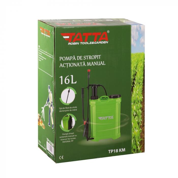 Pompa de stropit actionata manual Tatta TP-18KM, 16L, 2.4 bari 4