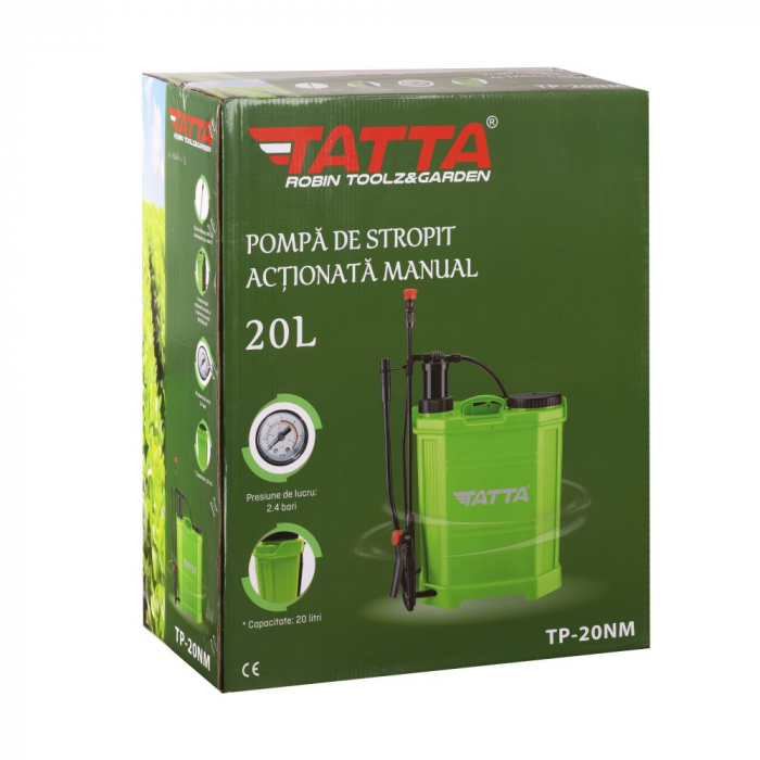 Pompa de stropit actionata manual Tatta TP-20NM, 20L, 2.4 bari 5