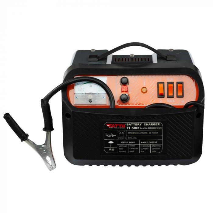 Redresor Tatta TI50R Profesional, curent de incarcare max 30A, curent pornire 180A, putere 0.6 kw 0