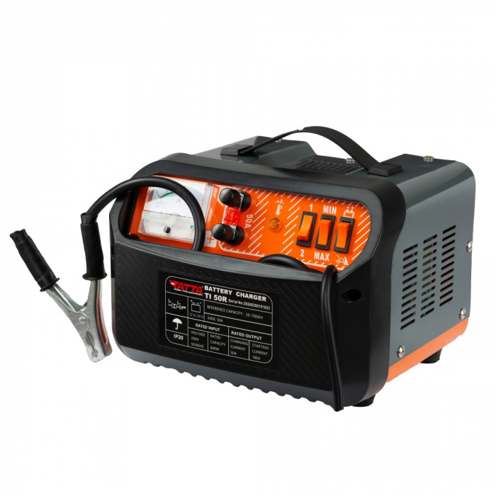 Redresor Tatta TI50R Profesional, curent de incarcare max 30A, curent pornire 180A, putere 0.6 kw 1