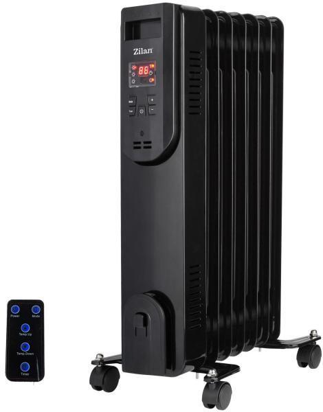 Calorifer electric cu telecomanda si timer ZILAN ZLN-3031, 9 elementi, Putere 2000 W, 3 trepte de putere, Termostat de siguranta, Termostat reglabil 0