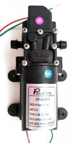 Pompa cu automorsare 5,5 Bari, debit: 3.1 L/min, 12V - 2,2 A 3