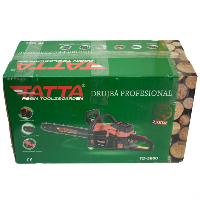 Drujba TATTA, Model TD-5800, 3.4 CP, 6200 RPM, 2 lanturi si 2 lame de 50 cm 4