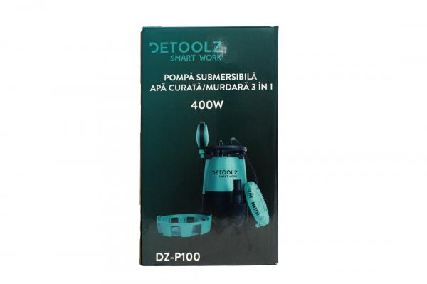 Pompa submersibila DETOOLZ, 400W, apa curata/murdara, 3in1 12
