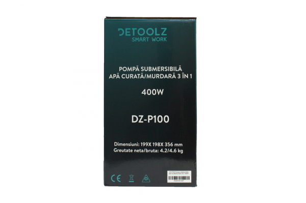 Pompa submersibila DETOOLZ, 400W, apa curata/murdara, 3in1 10