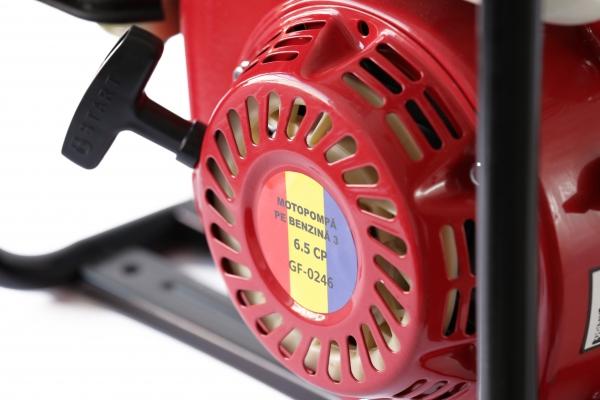 Motopompa pe benzina pe 3 TOLI putere 6,5cp debit 40000L/H 7