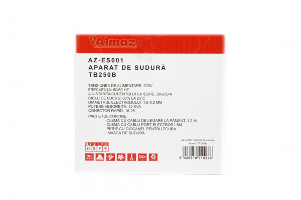 Invertor de sudura Almaz AZ-ES001 250A Electrod 1.6-4mm, accesorii incluse 1