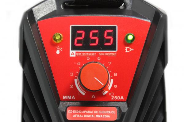 Aparat de sudura Invertor AlmazProfi 250A AZ-ES003, Clesti de sudura + masca de mana [8]