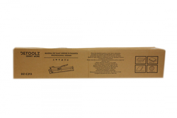 Aparat debitare gresie si faianta - 600mm, grosime 16mm, posibilitate taiere in unghi 45ᵒ DETOOLZ 16