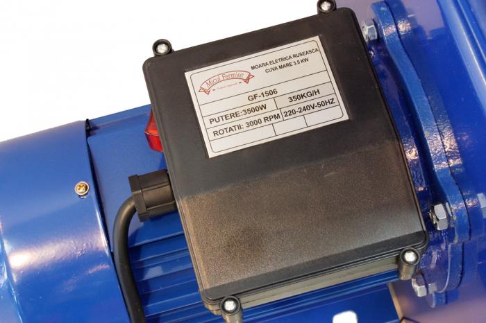 Moara electrica ruseasca albastra 3.5kW, 100% cupru, 400 de kg pe ora. 12