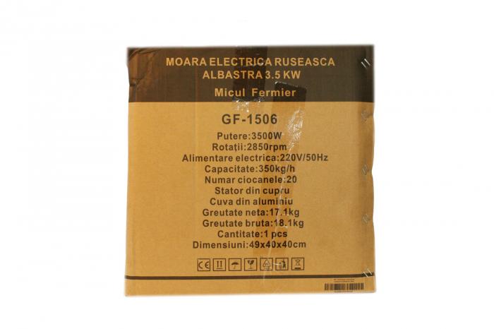 Moara electrica ruseasca albastra 3.5kW, 100% cupru, 400 de kg pe ora. 16