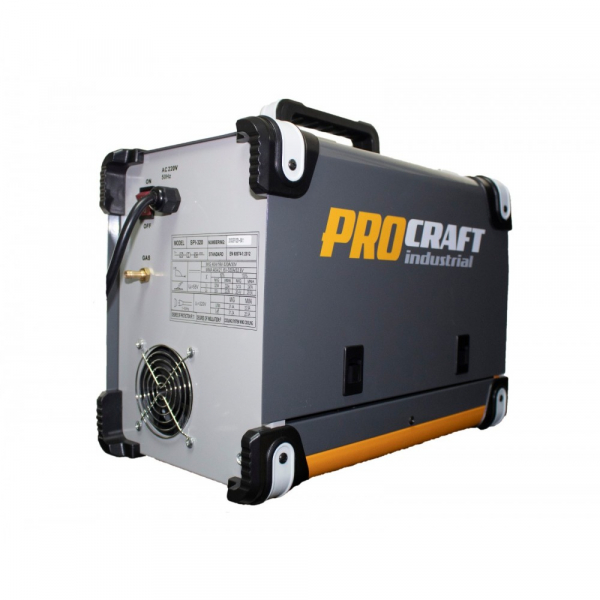 Invertor industrial MMA + MIG Procraft SPI 320 + Set cabluri si furtun MIG, 320 A 4