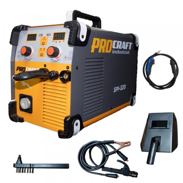 Invertor industrial MMA + MIG Procraft SPI 320 + Set cabluri si furtun MIG, 320 A 1