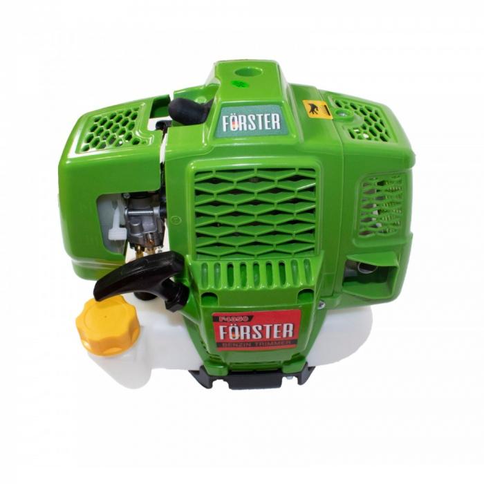 Motocoasa pe benzina Forster F4350, 4,5 CP, 4.3 kW, 9000 rpm, 415 mm, 3 discuri + tambur cu fir+ ham 2