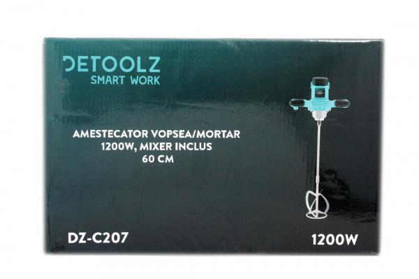 Amestecator (vopsea/mortar) DeeToolz DZ-C207 1200W, 1200Rpm, masina de amestecat, 11