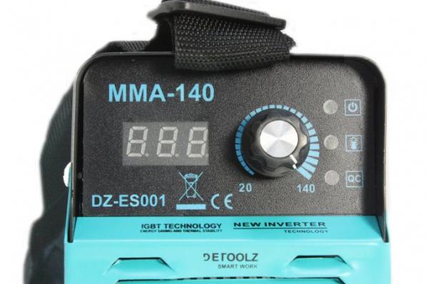 Aparat de sudura MMA-140 DETOOLZ, putere absorbita 6,1kVA, eficienta 80%, diametru electrod 1,6-3,2mm 4
