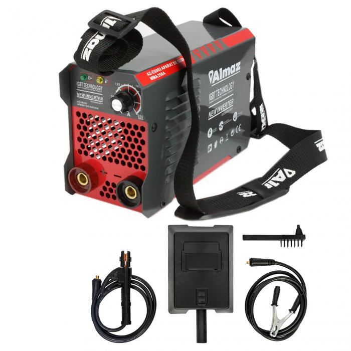 Aparat de Sudura, Invertor Almaz 250A AZ-ES002, Electrod 1.6-4mm, accesorii incluse 2