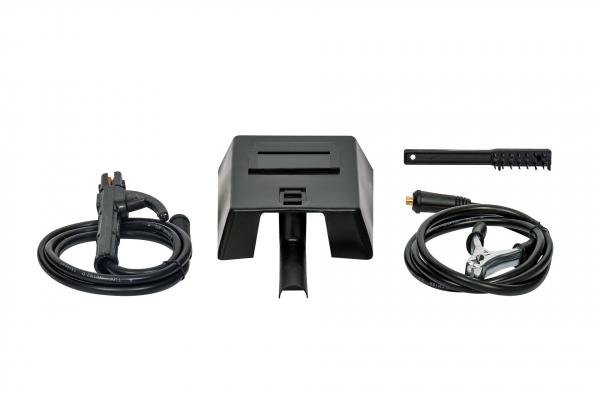 PACHET - Aparat de Sudura, Invertor Almaz 250A AZ-ES002, Electrod 1.6-4mm, accesorii incluse + Masca de sudura automata cu cristale lichide BY350F-ALOE 6