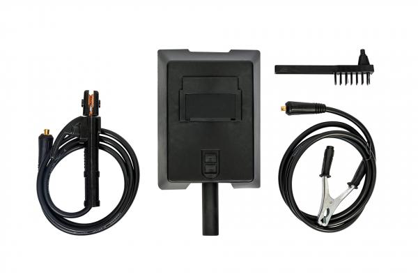 PACHET - Aparat de Sudura, Invertor Almaz 250A AZ-ES002, Electrod 1.6-4mm, accesorii incluse + Masca de sudura automata cu cristale lichide BY350F-ALOE 3
