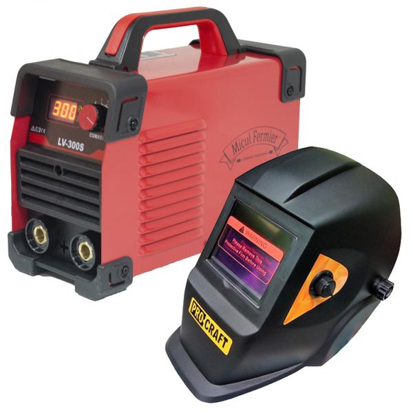 Aparat de sudura Micul Fermier LV 300S + Masca Sudura ProCraft SHP90-30 Automata 1