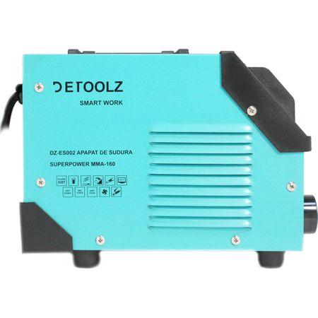 Aparat de sudura MMA-160 DETOOLZ, putere absorbita 8,1 kVA, eficenta 80%, diametru electrod 1,6-5mm 12