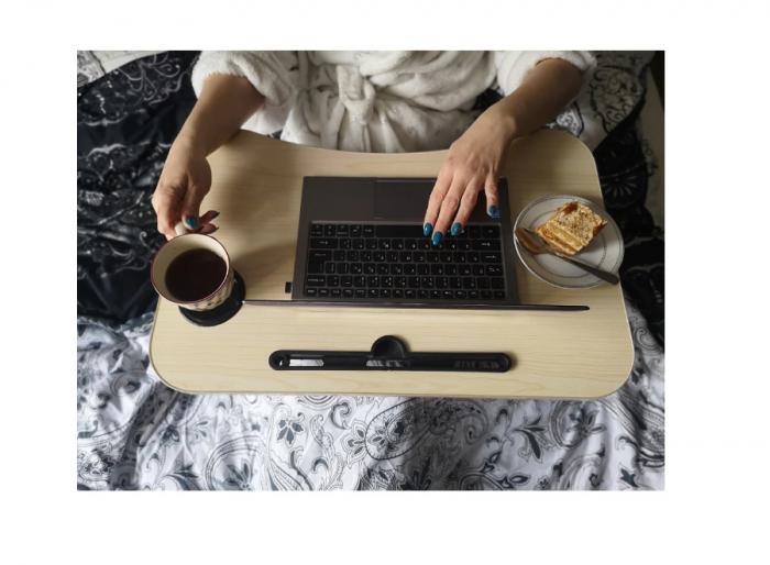 Masuta pliabila suport laptop/tableta maro deschis 60x40x28 2
