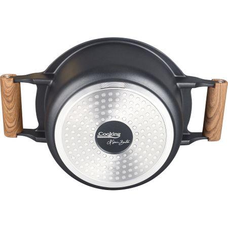 Caserola aluminiu + capac, Cooking by Heinner, Taste of Home by Chef Sorin Bontea, 24 x 11.5 cm, 4.5 L 2