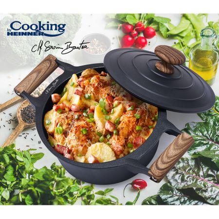 Caserola aluminiu + capac, Cooking by Heinner, Taste of Home by Chef Sorin Bontea, 24 x 11.5 cm, 4.5 L 3