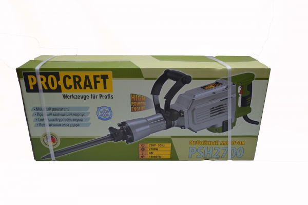 Ciocan demolator PROCRAFT PSH 2700, 2700 W, HEX 30 mm, 1400 b/pm 4