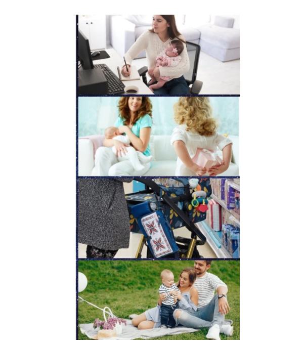 Geanta pentru infasat bebelusi, geanta organizator ideala pentru carucior-pentru schimbat scutece si infasat, cu buzunare incapatoare 5