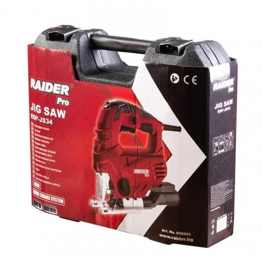 Fierastrau pendular RAIDER 800W, 100mm cu viteza variabila si laser, valiza de transport, RDP-JS34 2