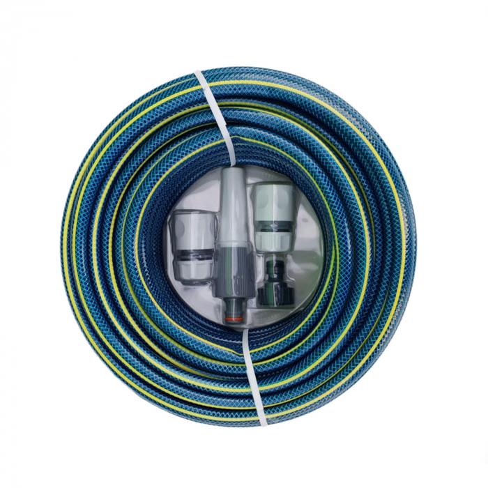 """Furtun gradina BLUEBOS PLUS 1/2"""" 20m, 3 straturi, cu set duze de conectare 2"""